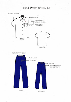 Desain Seragam Sekolah Umum untuk Putra dan Putri dari SD