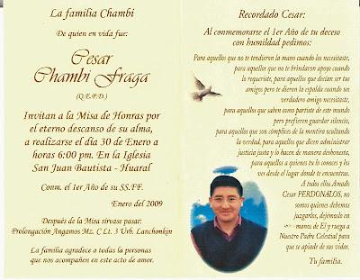 Tarjetas para invitar a misa de difuntos - Imagui