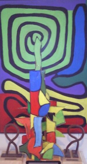 Conjunto esculturas-pinturas