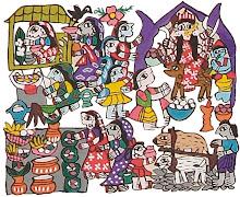 Mithila Art (Durga Puja)