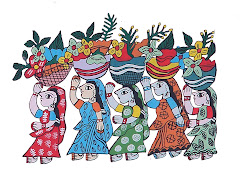 Mithila Art (Flower Women)