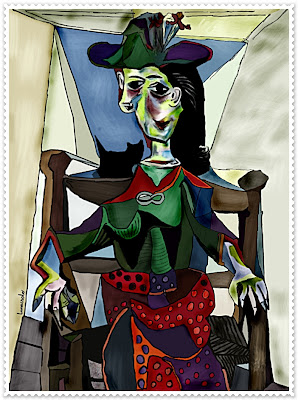 picasso 100 million My Version of Picassos   Dora Maar with a Cat