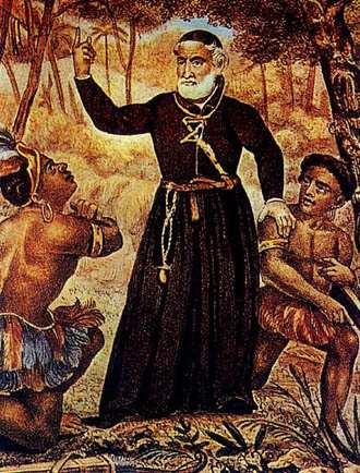 Padre António Vieira evangeliza os índios em terras de Vera Cruz