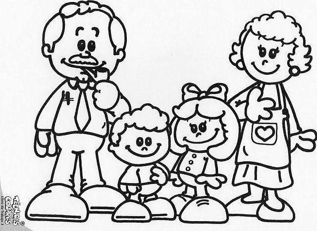 Familia monoparental para colorear  Imagui