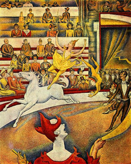 Georges-Pierre Seurat, (1859 - 1891) Seurat+-+the+circus+-+1891