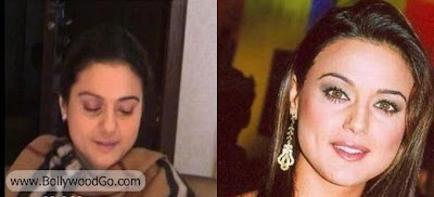 Priety+Zinta++Without+Makeup+BollywoodGo Bollywood Actress is Ugly?