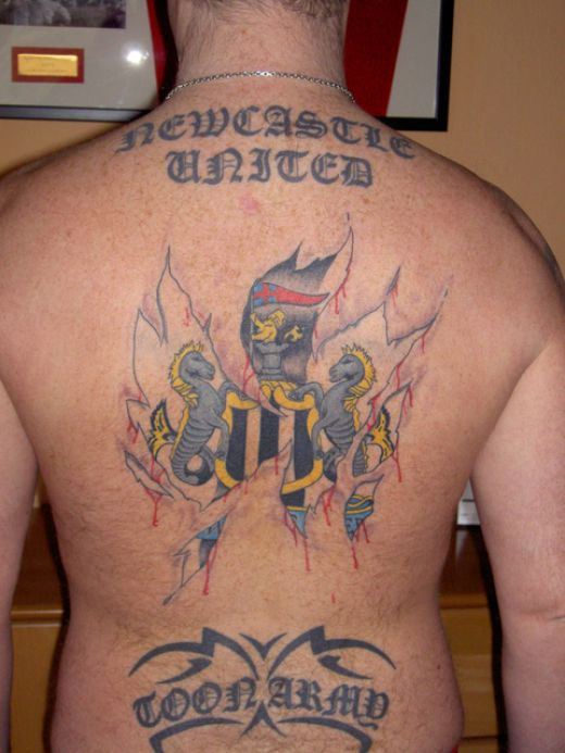 Newcastle United football tattoo