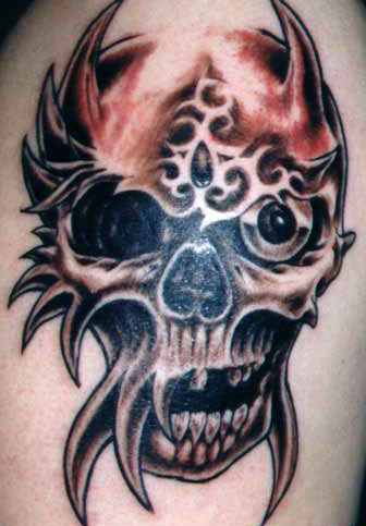 tattoo tribal. skull tribal tattoos