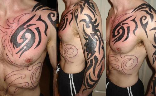 tattoo gallery designs. tribal tattoo gallery design