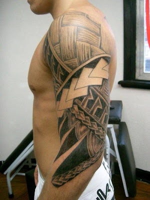 text tattoo, arm tattoo, art and design tattoo. Labels: Arm Maori tattoo,