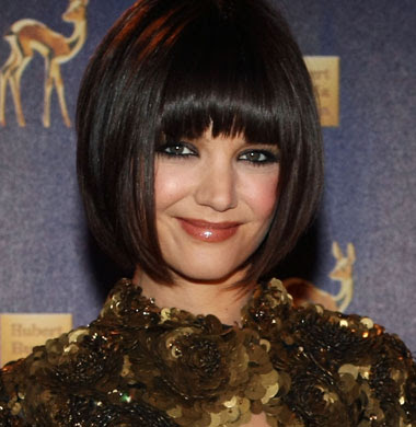 inverted bob hairstyles photos. Katie Holmes Bob Hairstyles 2011 : Katie Holmes - Inverted