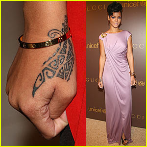 rihanna hand tattoo origin