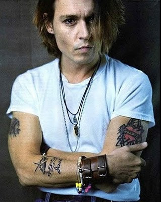 celebrity tattoos male, johnny