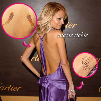nicole richie back tattoos.