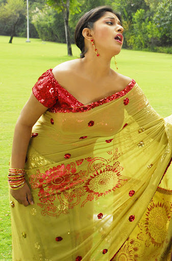 desi girl masala Meera jasmine in green saree spicy photo set