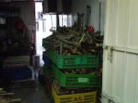 雜物房還有大量乾柴枝!