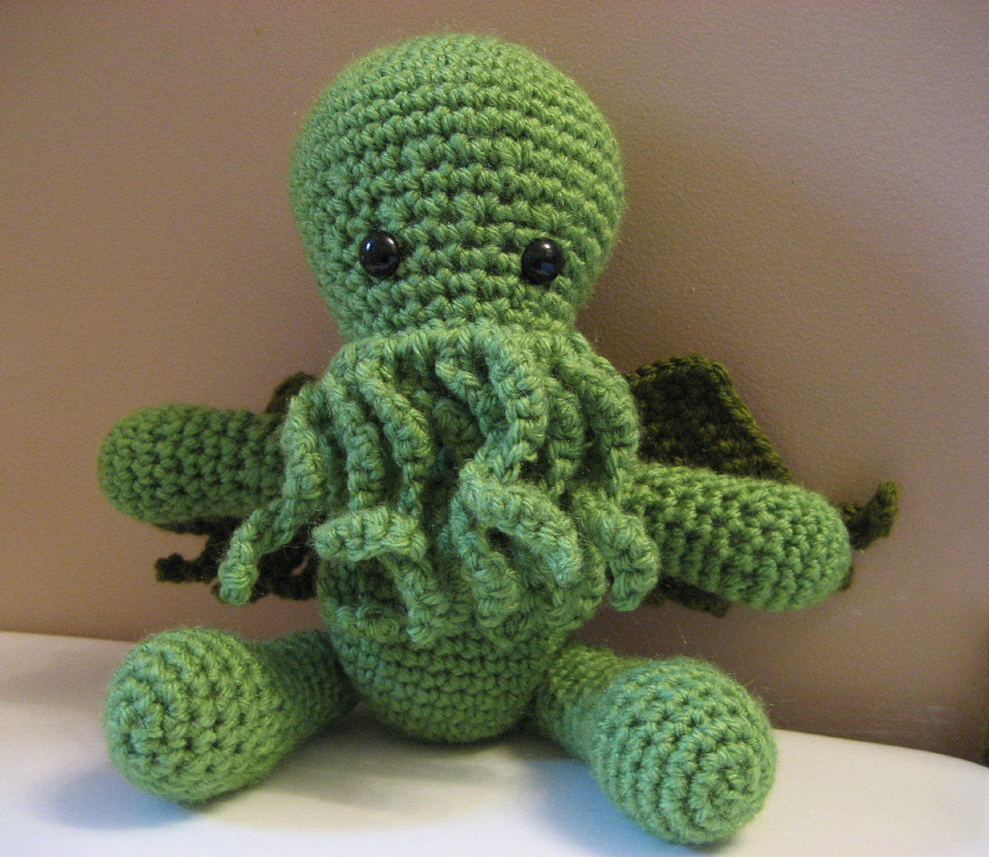 Cthulhu crochet and cousins cuddly cthulhu with free pattern cuddly cthulhu with free pattern bankloansurffo Choice Image