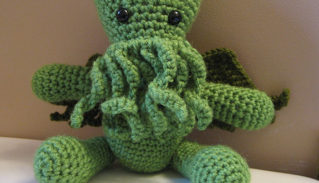 Cthulhu Crochet And Cousins Cuddly Cthulhu With Free Pattern