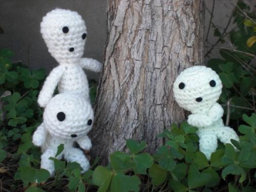 Cthulhu Crochet And Cousins Glowing Kodama Tree Spirits With Free