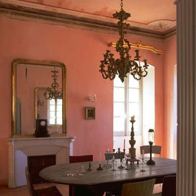 Beautiful Pink Dining Room