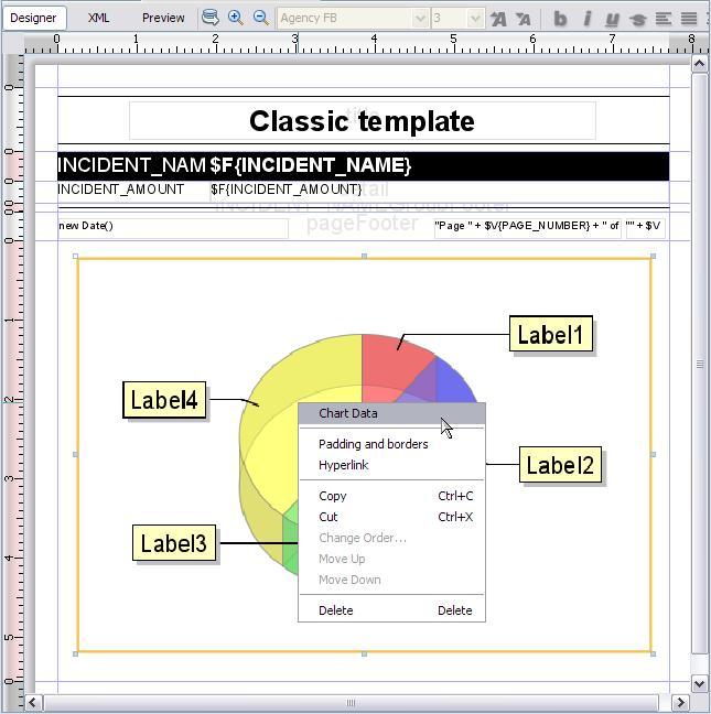 how to create pie chart in jasper report