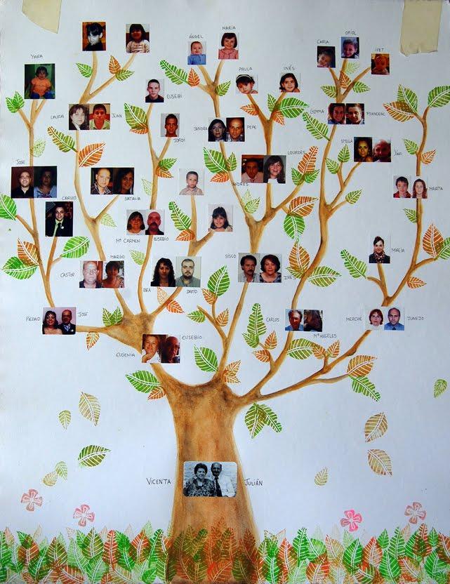 Lujo Marco De La Imagen De La Familia Del árbol Del Collage Imágenes ...