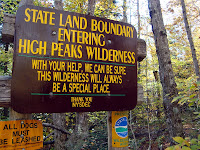 Entering the High Peaks Wilderness Area near Heart Lake.  The Saratoga Skier and Hiker, first-hand accounts of adventures in the Adirondacks and beyond, and Gore Mountain ski blog.