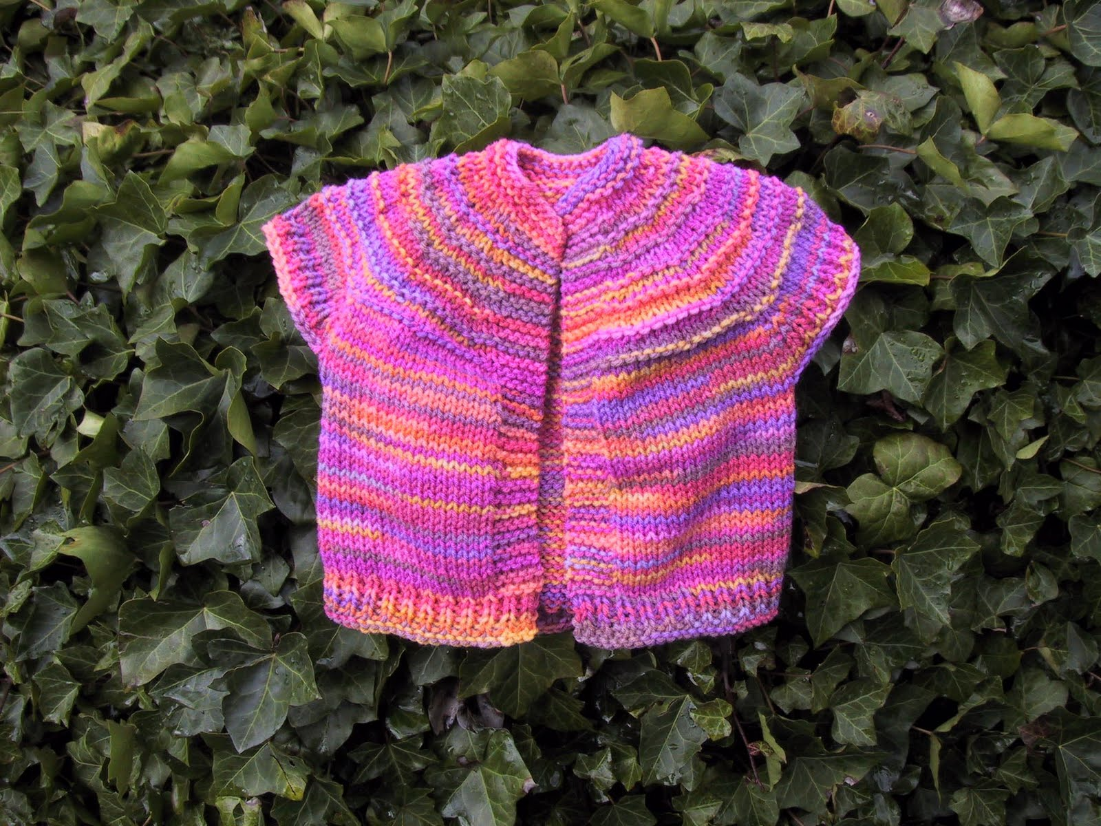 Knitting Patterns Free Childrens Vests : Suzies Stuff: TODDLER VEST