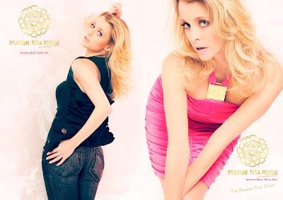 Maria Helena Chira é o rostinho da marca Passion Kiss Desire
