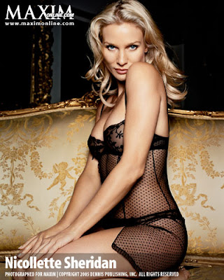 Nicollette Sheridan Sexy netted lingerie