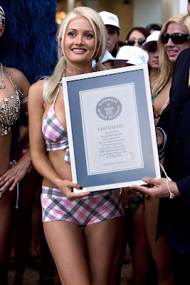 Holly Madison Bikini Parade Guinness Book World record