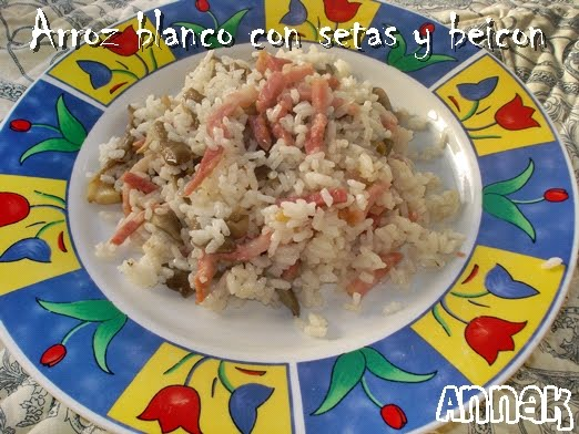 Recetas y trucos de cocina arroz blanco con setas y beicon - Comidas con arroz blanco ...