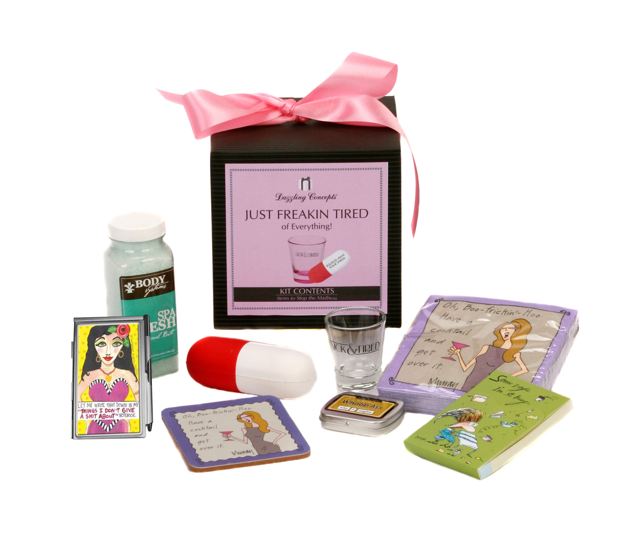 Our humorous gift kits are