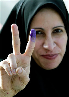 dip finger in ink well for vote