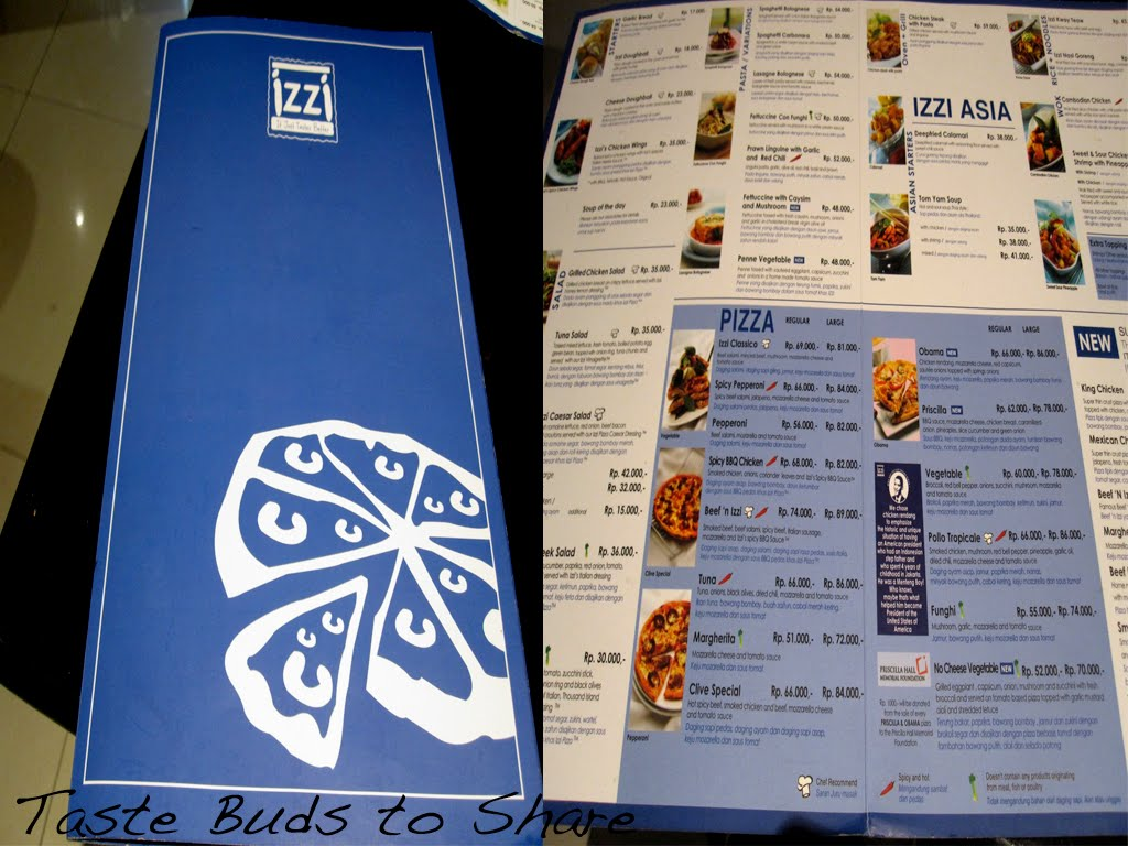 izzi pizza menu
