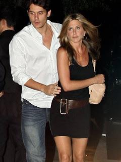 Jennifer Aniston e john Mayer quando ainda namoravam