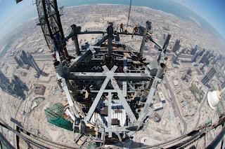 Edificio mais alto de Dubai visto de cima