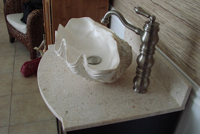 Shell Bathroom Sink : Willow Decor: Decorating with Giant Clam Shells