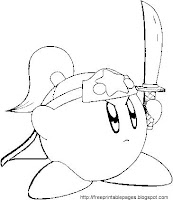 Ninja Coloring Pages on Free Printable Coloring Pages  Nintendo S Kirby Kirby Kirby Cartoon