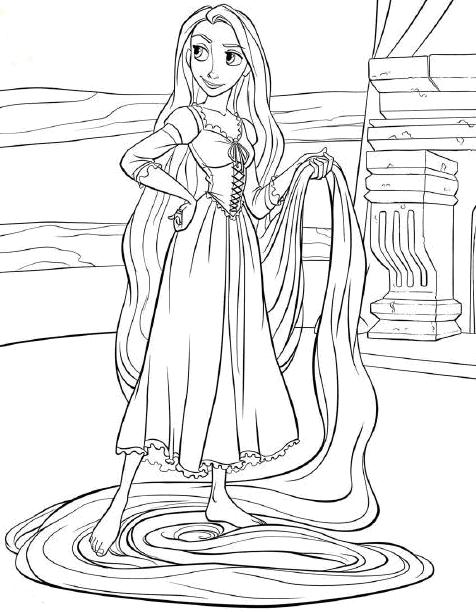 Coloring Cabin Disneys Tangled Pages Rapunzel