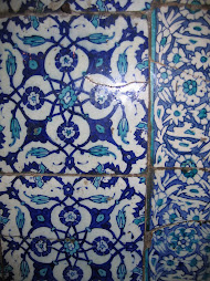 beautiful tilework inside the Yeni Cami Mosque