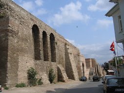 The old city-walls, in the western part of Istanbul