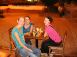 Lydia, Mia and me having a drink