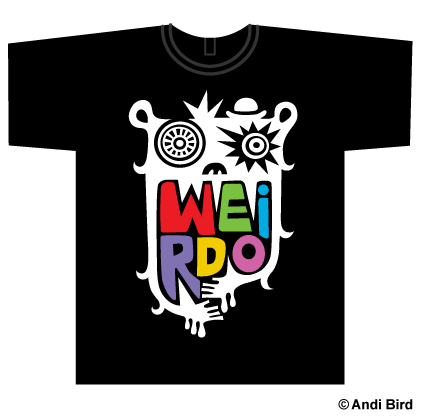 """Big weirdo - on light colors"" T-Shirts & Hoodies by Andi ..."