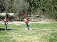 Playin a little ball camping