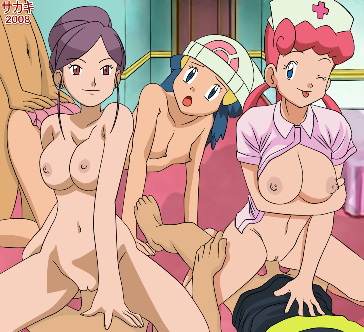 Ash Ketchum Brock Dawn Nurse Joy