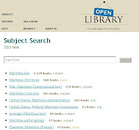 Open Library Snapshot Subject search