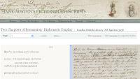 Manuscritos de Jane Austen digitalizados y transcritos de acceso abierto en línea