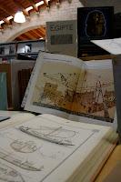 Exposición de la navegación en el antiguo Egipto en la Biblioteca del Museo Marítimo de Barcelona