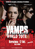 Poster cortesia Heavenly Club de VAMPS en concierto